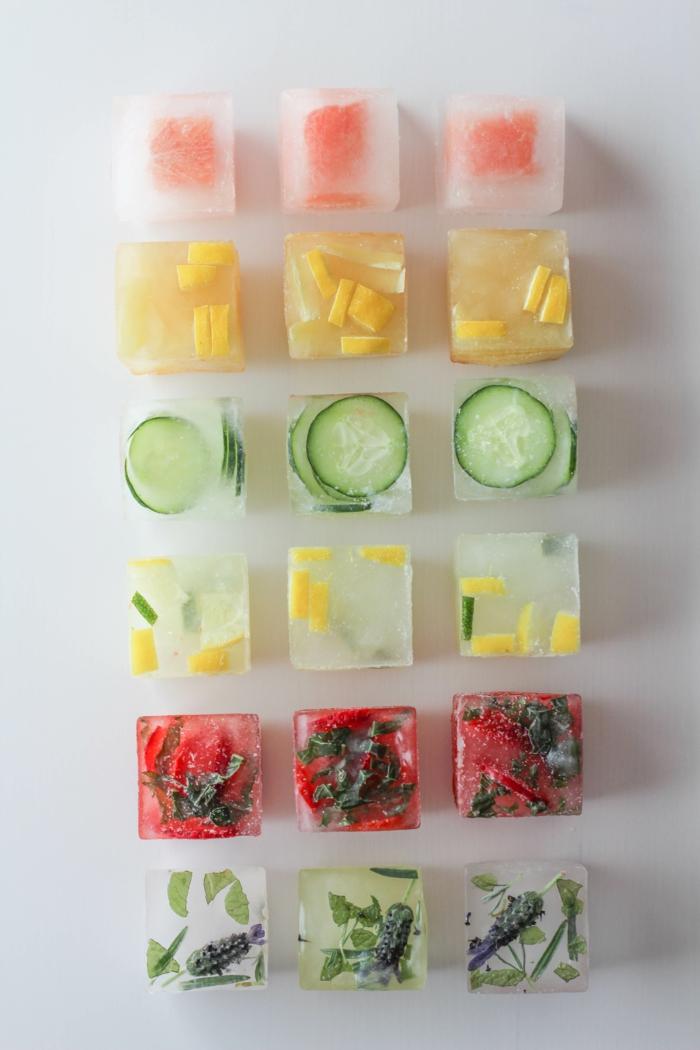sommer rezepte eiswürfel eiswürfelbehälter würfel mix