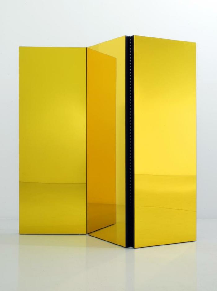 Raumteiler Ideen faltwand raumteiler-paravent raumtrenner vintage farbfolie