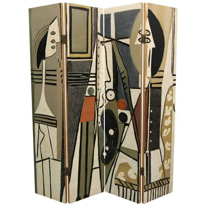 paravent raumtrenner vintage picasso