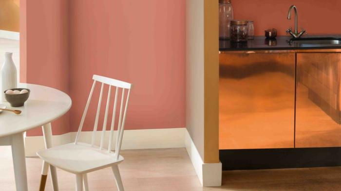 farbe kupfer innedesign küchenschränke