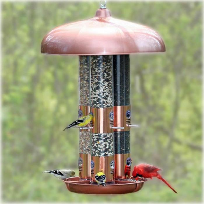 farbe kupfer innedesign vogelhaus