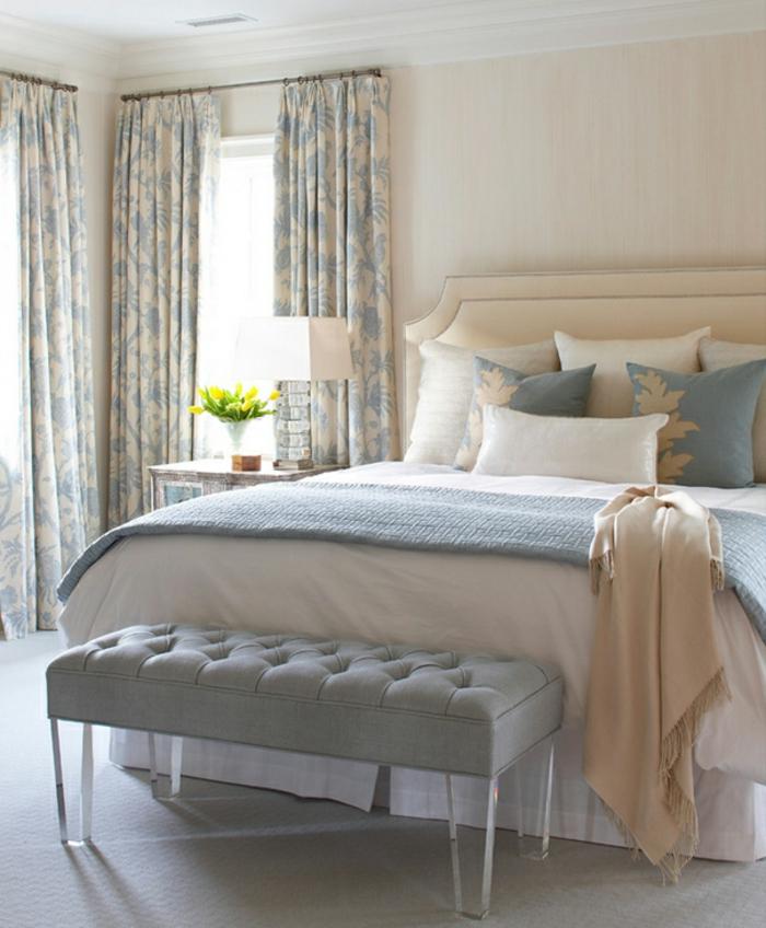 farbgestaltung inneneinrichutung schlafzimmer doppelbett nautrale farben