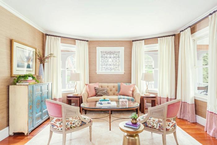 wohnzimmer pastellfarben: inneneinrichutung wohnzimmer gestalten pastellfarben sofa stühle