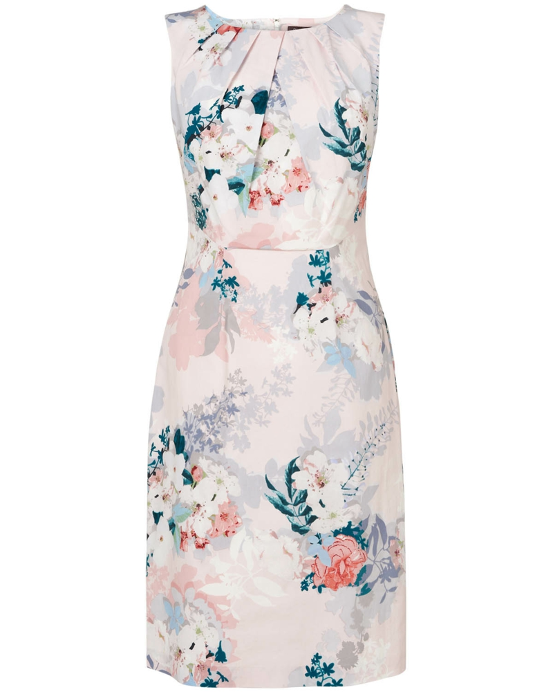 festliche Sommerkleider Damen Blumenkleider Blumenmuster Trend
