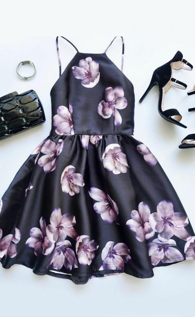 festliche Sommerkleider Damen Blumenkleider Sommermode Trends
