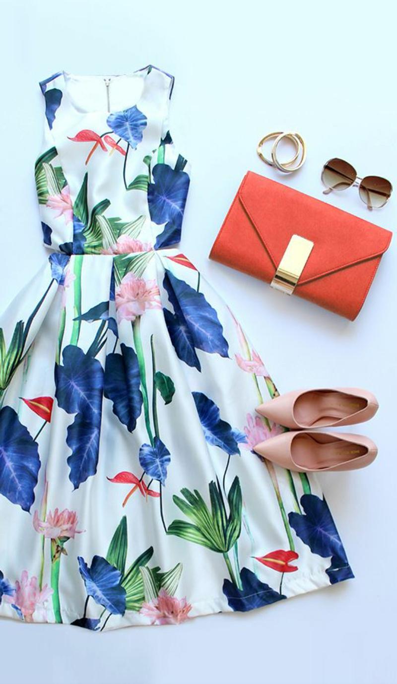 festliche Sommerkleider Damen Blumenkleider Trends