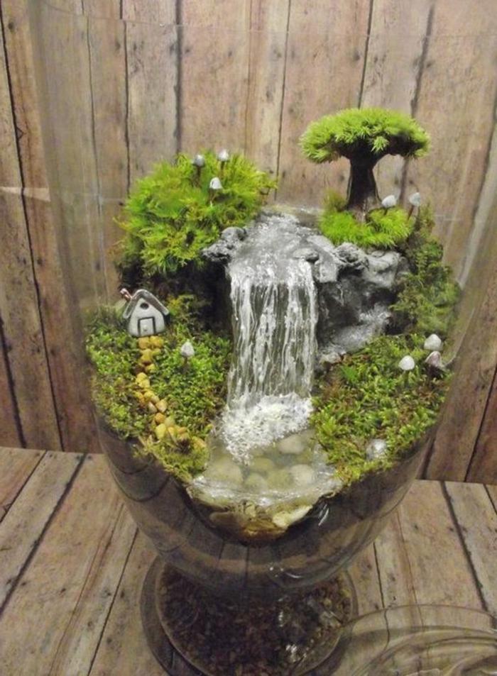 Wasserfall im garten selber bauen 99 ideen wie sie die harmonie der natur genie en - Kleiner springbrunnen garten ...
