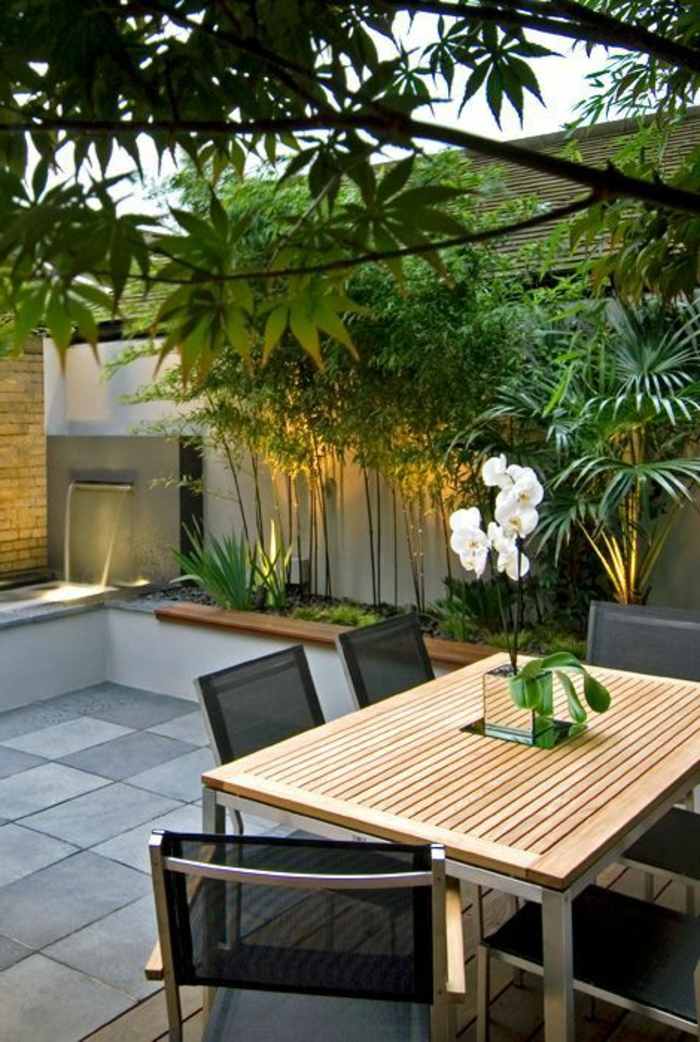 Wasserfall im garten selber bauen und die harmonie der - Amenagement terrasse exterieure appartement ...