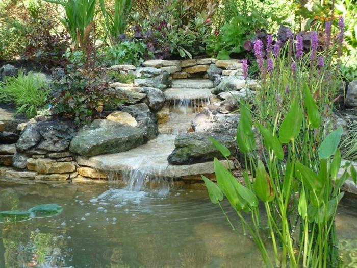 wasserfall im garten selber bauen - 99 ideen, wie sie die harmonie, Garten und Bauen