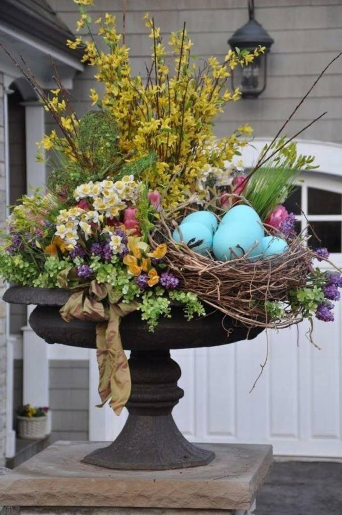 Osterdeko Garten - 40 Interessante Gartenideen für die ...