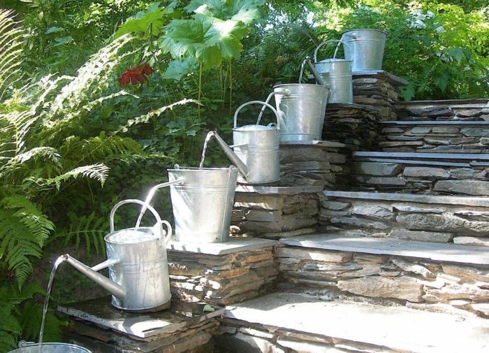 garten gestaltung - ideen mit optischen illusionen und andere ... - Gartengestaltung Wasser