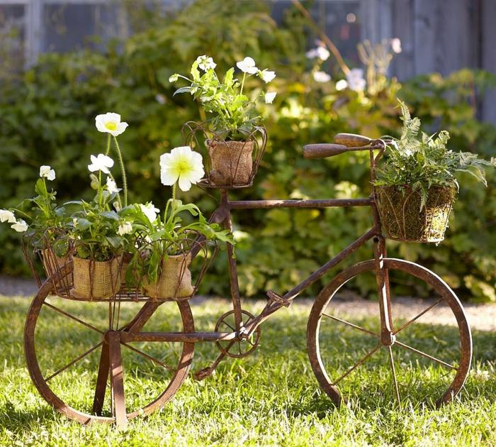 gartenideen gartendeko ideen pflanzenbehälter kreative gartenideen