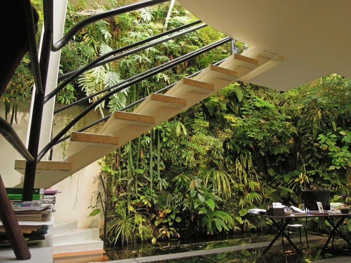 aussentreppe kräuter treppenkonstruktion
