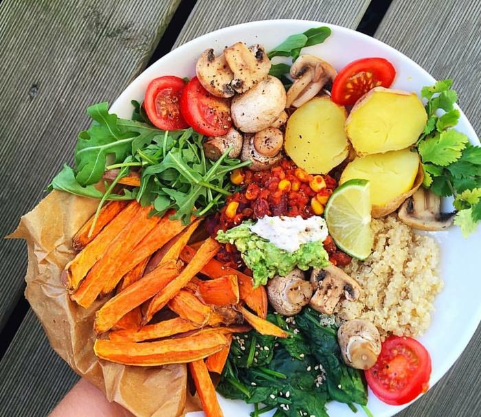gesunde fette gesundheit frisches gemüse pilze chia