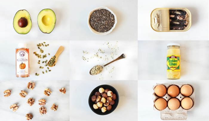 gesunde fette gesundheit ghee eier haselnüsse walnüsse avocado samen