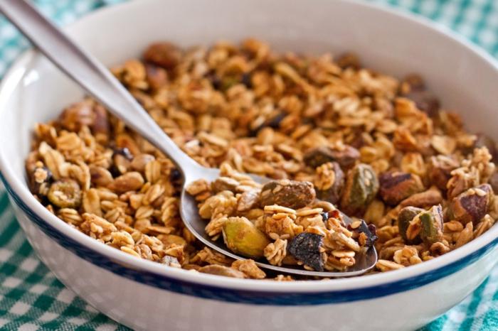 gesunde fette gesundheit müsli trockene früchte samen haferflocken