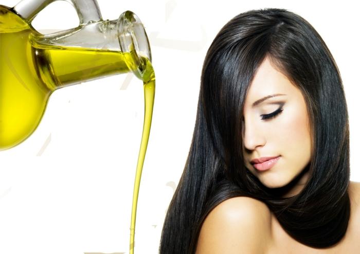 Das Mittel für das Haar mit der flüssigen Seide