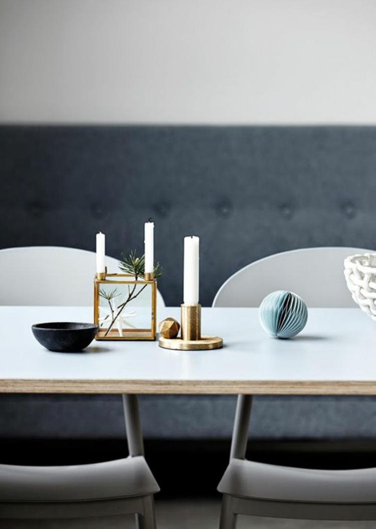 goldfarbene skandinavische Wohnaccessoires Dekoartikel Kerzenständer