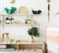 Skandinavische Wohnaccessoires in Gold bringen Ihre Wohnung zum Glänzen