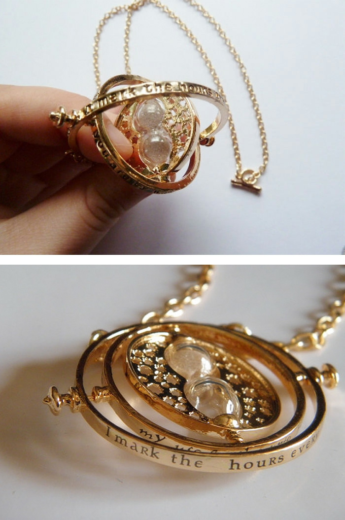 harry potter schmuck halskette gold zeit dreher maschnine hermione