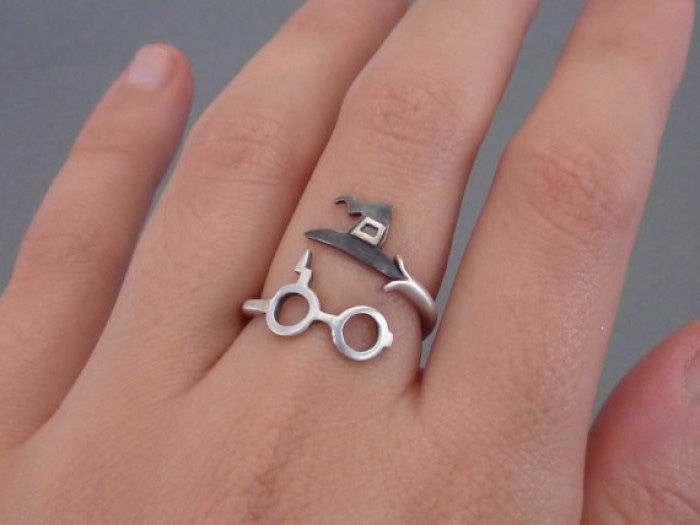 harry potter schmuck ring brille zauberhut