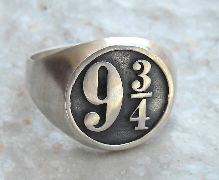 harry potter schmuck ring messing