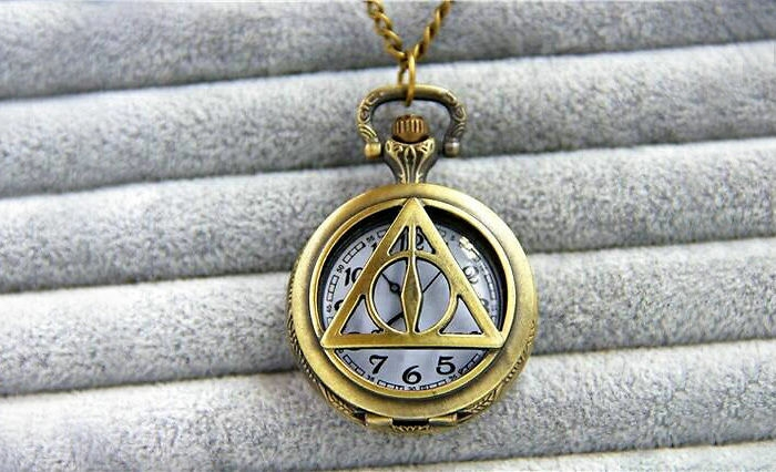 harry potter schmuck taschenuhr messing deathly hallows