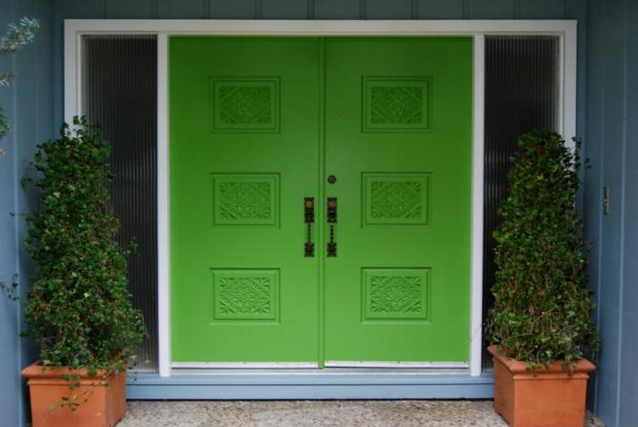 Haustür holz grün  83 Holztüren für den Hauseingang- Mehr Inspiration für Unentschlossene