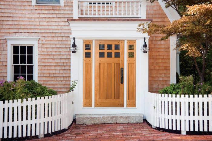 Haustür holz weiß  83 Holztüren für den Hauseingang- Mehr Inspiration für Unentschlossene