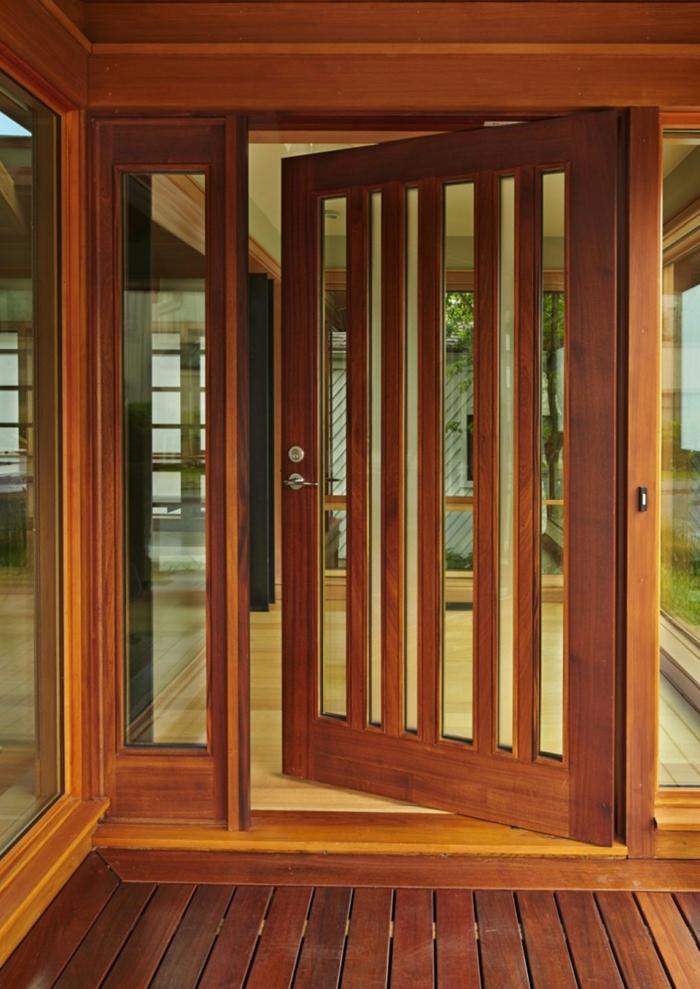 Haustür glas holz  83 Holztüren für den Hauseingang- Mehr Inspiration für Unentschlossene