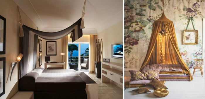 behutsamer schlaf mit dem besten himmelbett vorhang. Black Bedroom Furniture Sets. Home Design Ideas