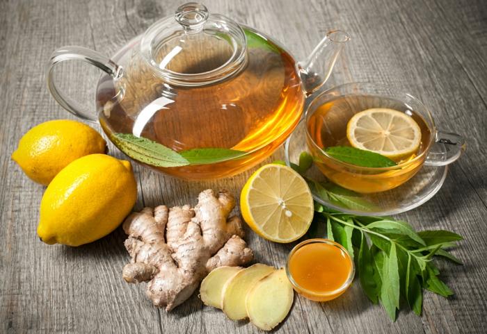 honig gesund mit tee zimt zitrone