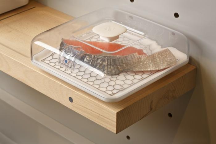 ikea küchen innovative technologien 2025 moderner kühlschrank lebensmittel lachs