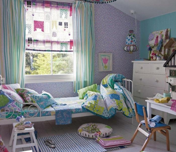60 wohnungseinrichtung ideen die fr hlingsfarben in der for Kinder wandtapeten
