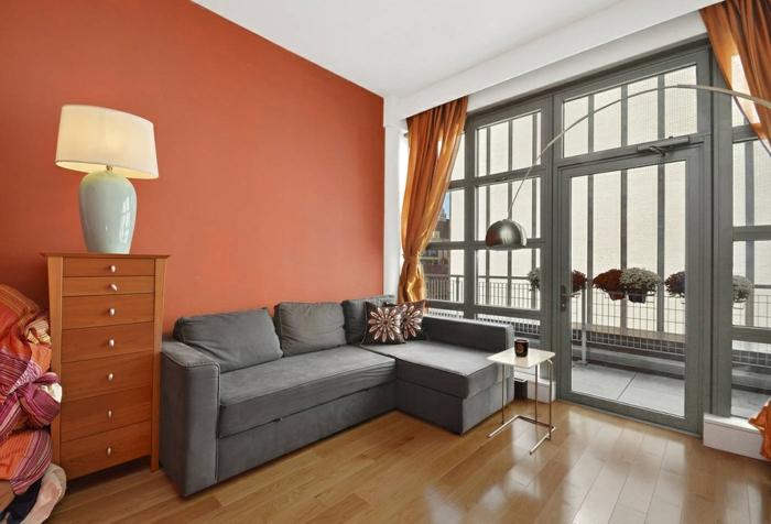 60 wandfarbe ideen in orange naturinspirierte gestaltung f r alle r umlichkeiten. Black Bedroom Furniture Sets. Home Design Ideas