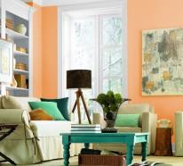 Wohnideen Wohnzimmer Hell 60 wandfarbe ideen in orange naturinspirierte gestaltung für alle