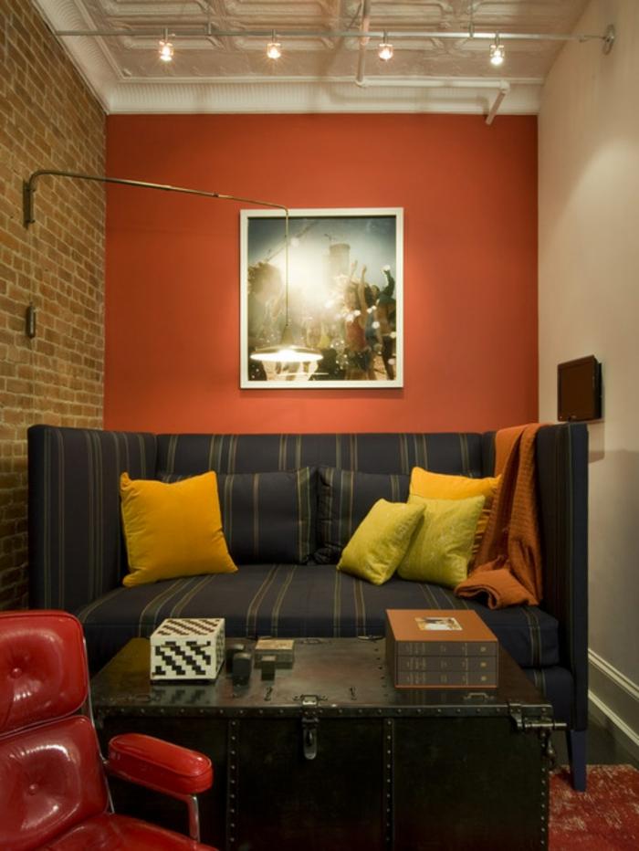 wohnzimmer gestalten orange raum und m beldesign inspiration. Black Bedroom Furniture Sets. Home Design Ideas
