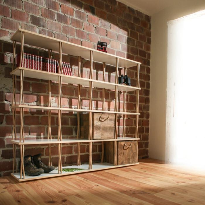innendesing ideen wohnzimmer wandregal regalstruktur avocadostore.de