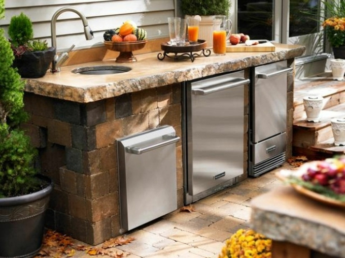 Schrank Für Außenküche : Küchenschränke materialien für outdoor küchen