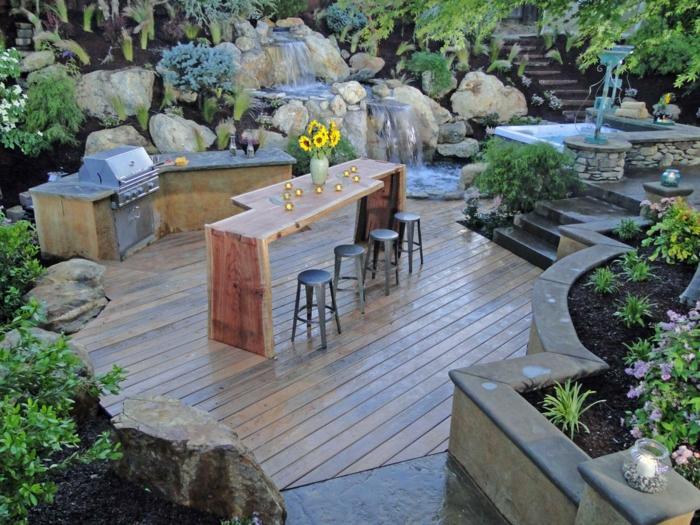 k chenschr nke materialien f r outdoor k chen. Black Bedroom Furniture Sets. Home Design Ideas