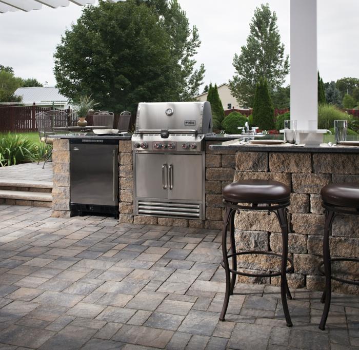 küchenschränke outdoor küche ideen außenbereich gestalten