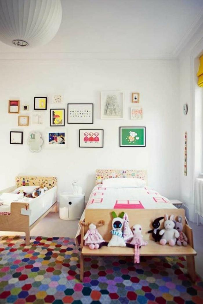 kinderzimmer teppich kinderzimmereinrichtung farbiger teppich hexagonmuster