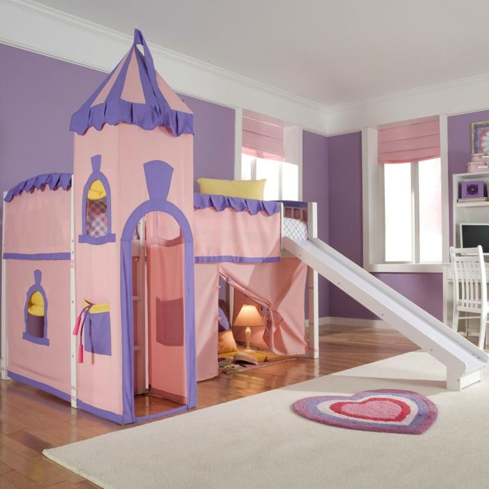 kinderzimmer teppich mädchenzimmer heller teppich kinderspielbett