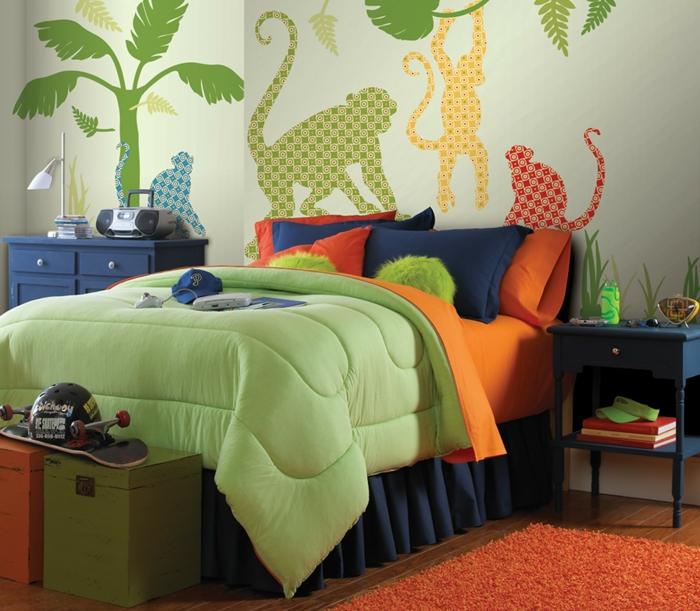 kinderzimmer teppich oranger teppich jungenzimer gestalten