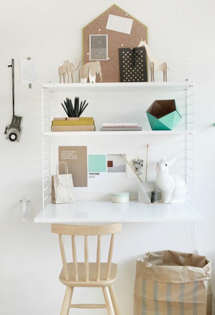 kleines Home Office einrichten Büromöbel Klappschreibtisch