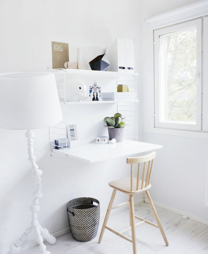 kleines Home Office einrichten Büromöbel Schreibtisch