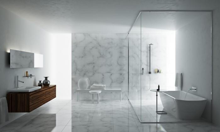 Kleines Bad Einrichten Badewanne Freistehend Oval Beistelltische Duschkabine  Moderne Dusche