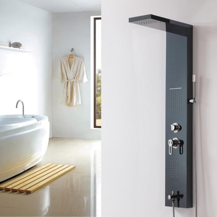 Kleines Bad Einrichten Badewanne Ovale Form Duschsystem Innovation