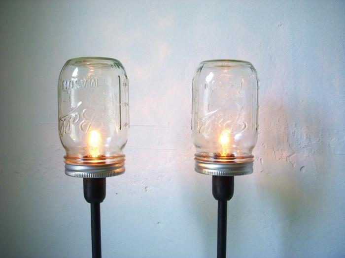 kreative wohnideen lampen basteln einmachgläser