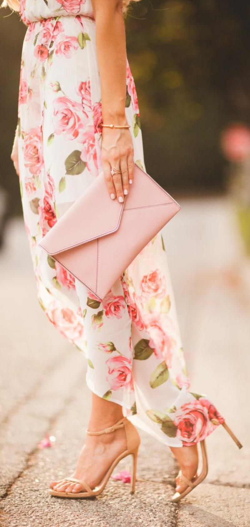 lange Sommerkleider Blumenkleider Sommermode Blumenprint Rosen
